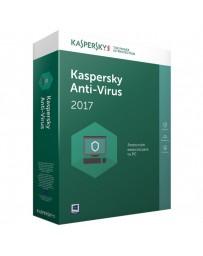 SOFTWARE KASPERSKY ANTIVIRUS 1 USUARIO 2017