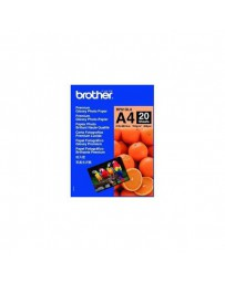 PAPEL BROTHER GLOSSY A4 (20 HOJAS) BP61GLA