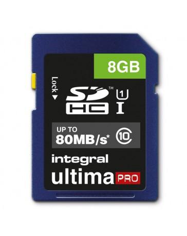 SDHC INTEGRAL 8GB CLASS10 U-PRO 80MB/S READ