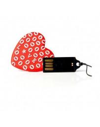 PENDRIVE TECH ONE TECH CORAZON ROJO LOVE16GB USB 2.0