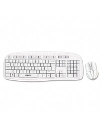 TECLADO+RATON APPROX WIRELESS 2,4GHZ BLANCO APPKBWSOFFICW