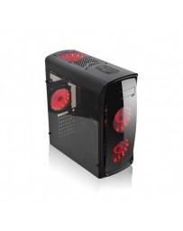 CAJA SEMITORRE GAMING KAZUMI LED ROJO USB 3.0 INCLUIDO 2 VEN