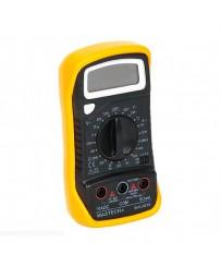 MULTIMETRO DIGITAL MULTIFUNCION CON LCD Y TERMOMETRO