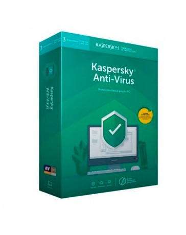 SOFTWARE KASPERSKY ANTIVIRUS 3 USUARIO 2019