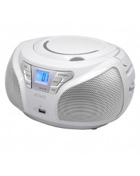RADIO PORTATIL DENVER BOOMBOX CD/MP3 FM + AUX + USB WHITE