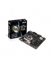PLACA BASE ASUS INTEL H97M-PLUS 1150 4DDR3,32GB,VGA+DVI+HDMI