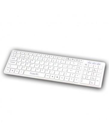 TECLADO HAVIT HV-K822P BLANCO USB SLIM