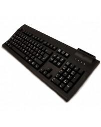 TECLADO TARJETAS MUSTEK K107B CHIP/DNI USB 105 TECLAS