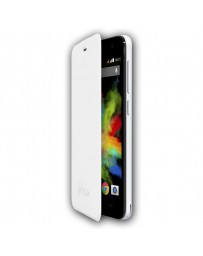 FUNDA WIKO CON TAPA BLOOM BLANCO