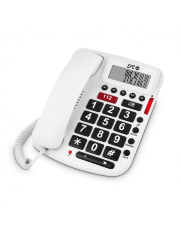 TELEFONO SPC BIPIEZA3293B SOBREMESA BLANCO