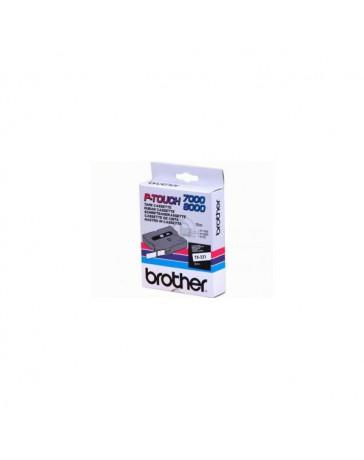 CINTA BROTHER ORIG. TX221 9MM BLANCO/NEGRO