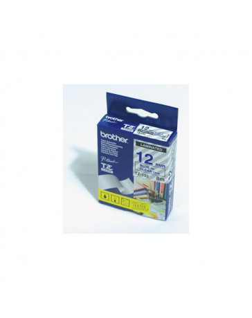 CINTA BROTHER ORIG.TZ133/E TRANSPAR./AZUL 12MM