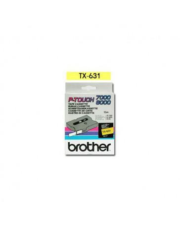 CINTA BROTHER ORIG. TX631 12MM AMARILLO/NEGRO