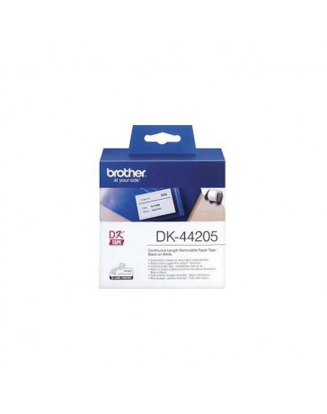 CINTA BROTHER PAPEL REMOVIBLE 62MM BLANCO DK44205