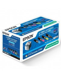 TONER EPSON ORIG. C1100/CX11N KIT 4 COLORES