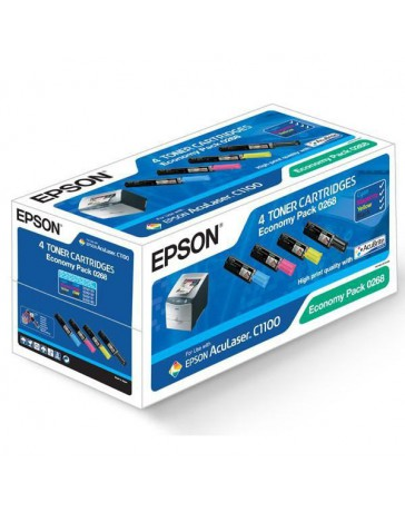 TONER EPSON ORIG. C1100/CX11N KIT 4 COLORES