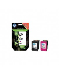 INK JET HP ORIG. CN637EE NEGRO/COLOR Nº300 PACK-2