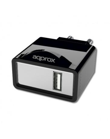 CARGADOR APPROX USB ALIM.PARED APPUSBWALL1B NEGRO