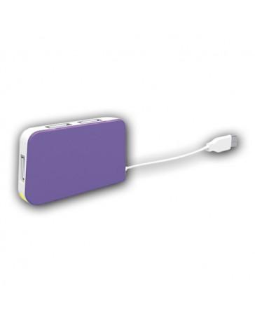 HUB APPROX TRAVEL 4 PORT USB PURPLE APPHT4P
