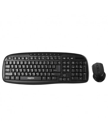 TECLADO+RATON APPROX MULTIMEDIA WIRELESS APPKBWSOFFICE NEGRO