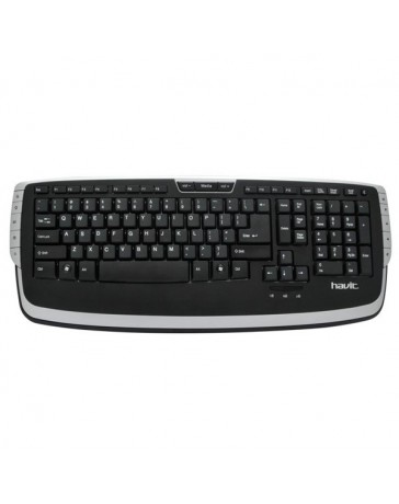 TECLADO HAVIT HV-K813M NEG/PLA USB MULTIMEDI