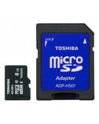 MICRO SDHC TOSHIBA 8GB + ADAPTADOR CLASE 10