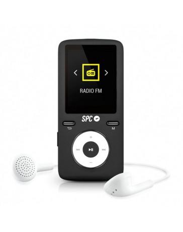 """MP4 SPC PURE SOUND COLOUR2 8GB FM 1.8"""" MICRO SD NEGRO"""
