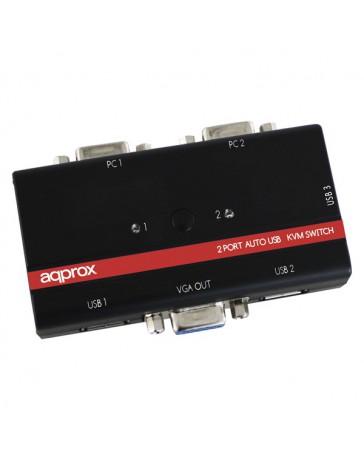 SWITCH APPROX KVM 2 PUERTOS USB APPKVMUSB2PV2