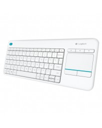 TECLADO LOGITECH WIRELESS K400 PLUS TOUCH PAD BLANCO