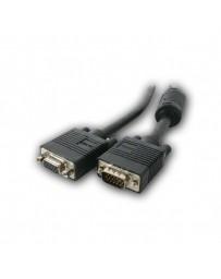 CABLE MONITOR VGA HDB15M/HDB15M 2 MT C/FERRIT