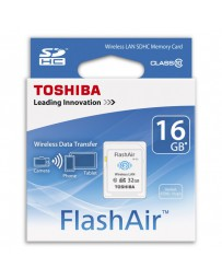 SDHC WIRELESS LAN TOSHIBA FLASHAIR 16GB CLASE 10