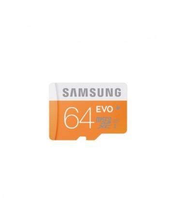 MICRO SDHC SAMSUNG EVO 64GB CON ADAP. CLASE 10