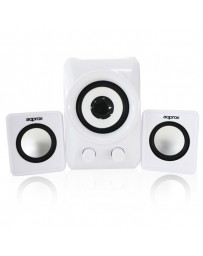 ALTAVOCES APPROX MULTIMEDIA 2.1 10W APPSP21MW BLANCO