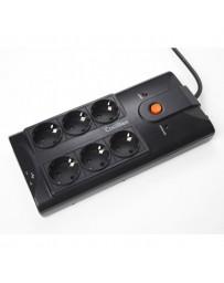 "REGLETA 19"" 6 TOMAS+2 USB EMI /RFI"